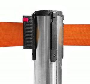 colonnina-segna-percorso-acciaio-spazzolato-base-piatta-nastro-arancione-3-metri-ultra-pesante-15-kg-1