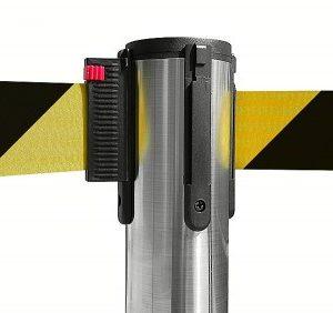 colonnina-segna-percorso-acciaio-spazzolato-base-piatta-nastro-giallo-nero-3-metri-ultra-pesante-15-kg-1