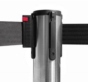 colonnina-segna-percorso-acciaio-spazzolato-base-piatta-nastro-nero-3-metri-ultra-pesante-15-kg-1