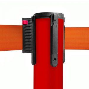 colonnina-segna-percorso-rosso-base-piatta-nastro-arancione-3-metri-1