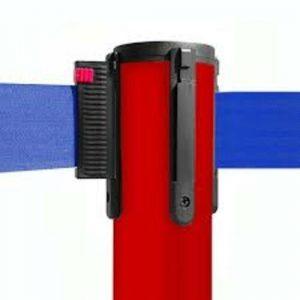 colonnina-segna-percorso-rosso-base-piatta-nastro-blu-3-metri-ultra-pesante-15-kg-1
